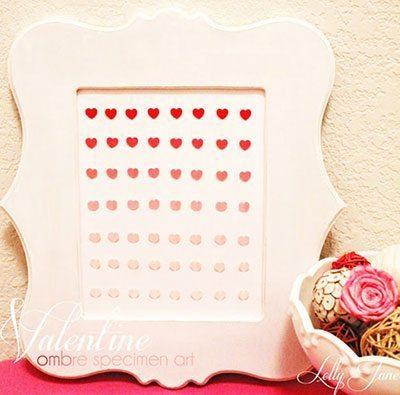 กรอบรูปหัวใจไล่สี
