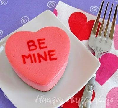 ชีสเค้กสื่อรักรูปหัวใจ