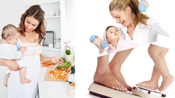 วิธีลดน้ำหนักหลังคลอด