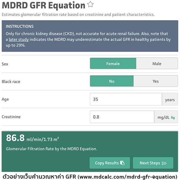 การคำนวณGFR