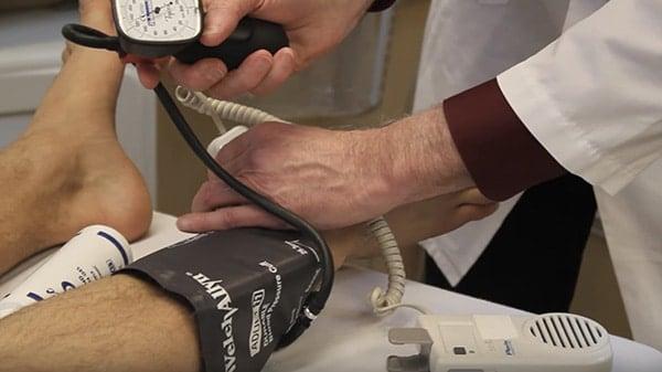 การตรวจ Ankle Brachial Index